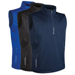 9769 Glenmuir Mens Water Repllent Zip Neck Performance Sleeveless Windshirt